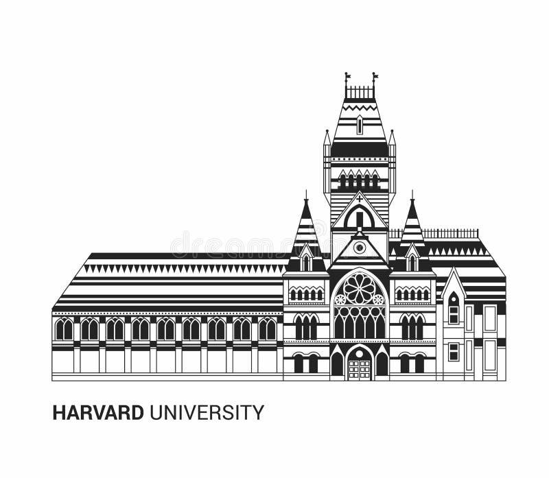 Harvard University Icon. Flat Thin Line Vector Illustration vector illustration
