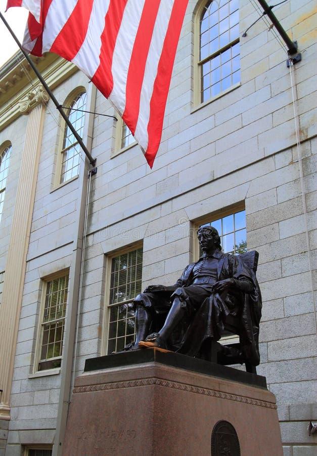 Harvard University. John Harvard Statue at Harvard University Cambridge, Massachusetts United States stock photo