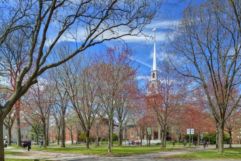 Harvard University Old Yard in the Spring stock image