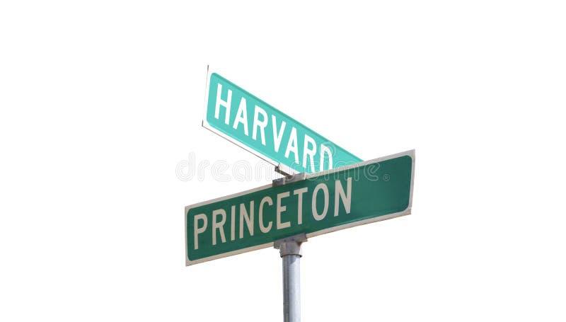 Harvard y Princeton Ivy League College fotografía de archivo libre de regalías