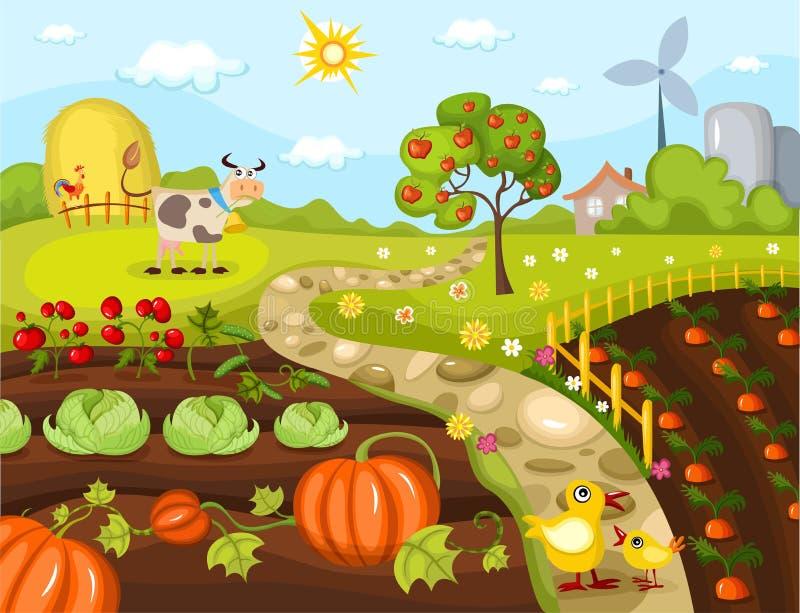 Harvest card royalty free illustration