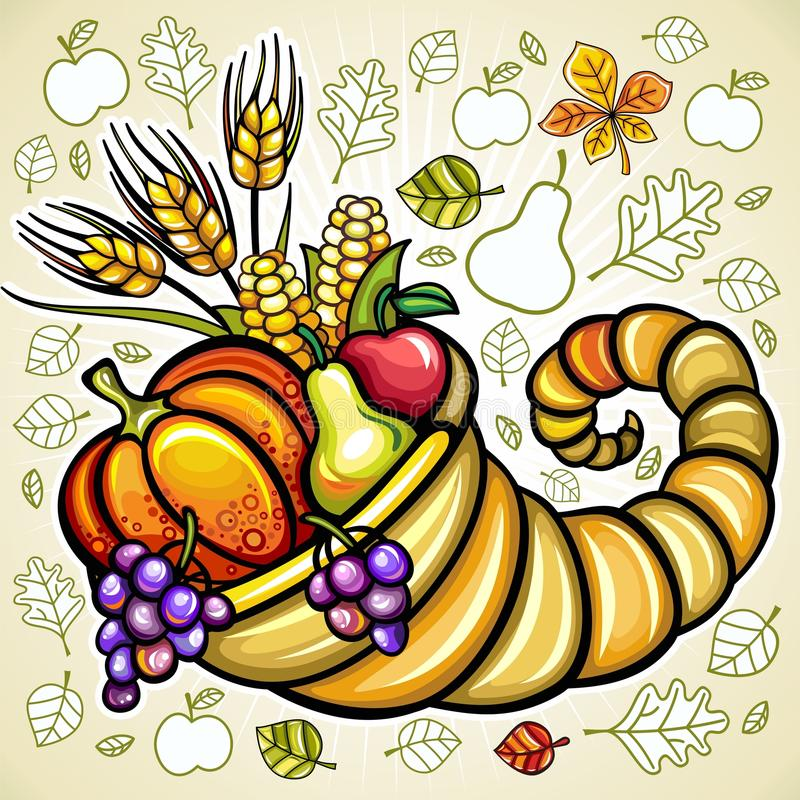 Free Harvest Cornucopia Stock Image - 16850701