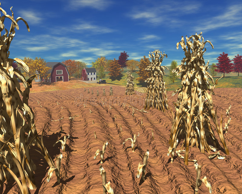 Harvest_farm_day ilustração royalty free