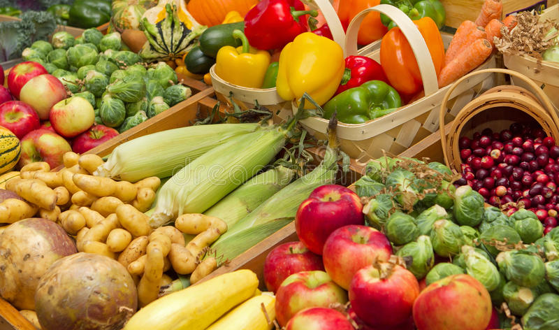 Harvest foods royalty free stock photography