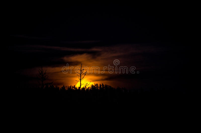 Harvest Moon Rising royalty free stock photo