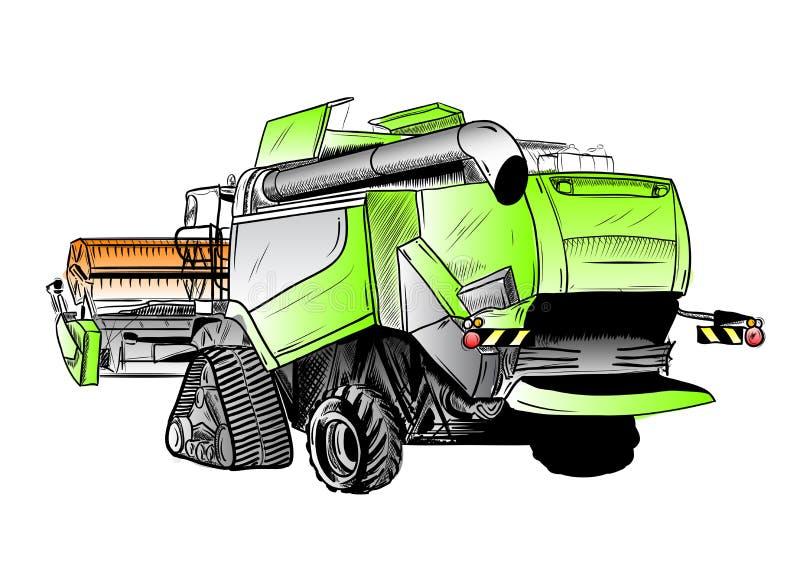 Harvester vector illustration