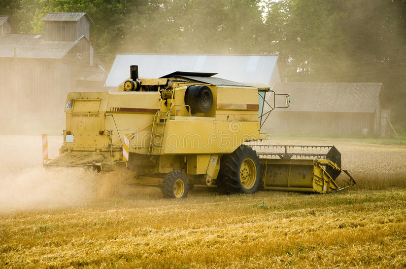 Download Harvester stock photo. Image of work, powerful, barley - 15933844