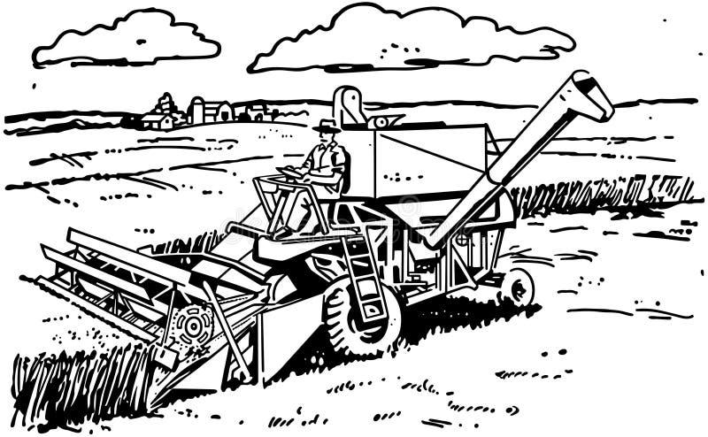 harvester διανυσματική απεικόνιση