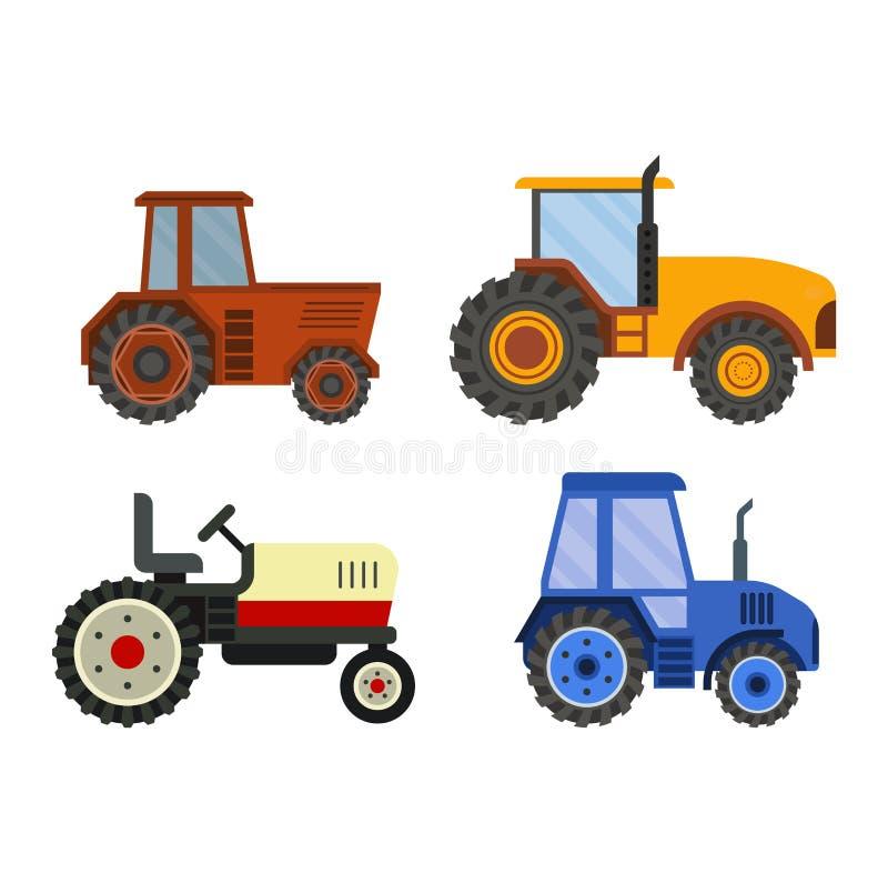 Harvester machine vector technic stock illustration