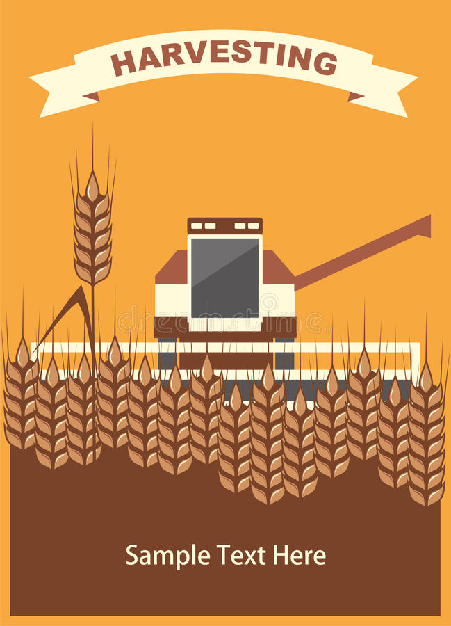 Download Harvesting stock vector. Image of growth, landscape, autumn - 20566297