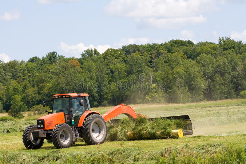 Download Harvesting hay. stock image. Image of tractor, farmer - 10962037