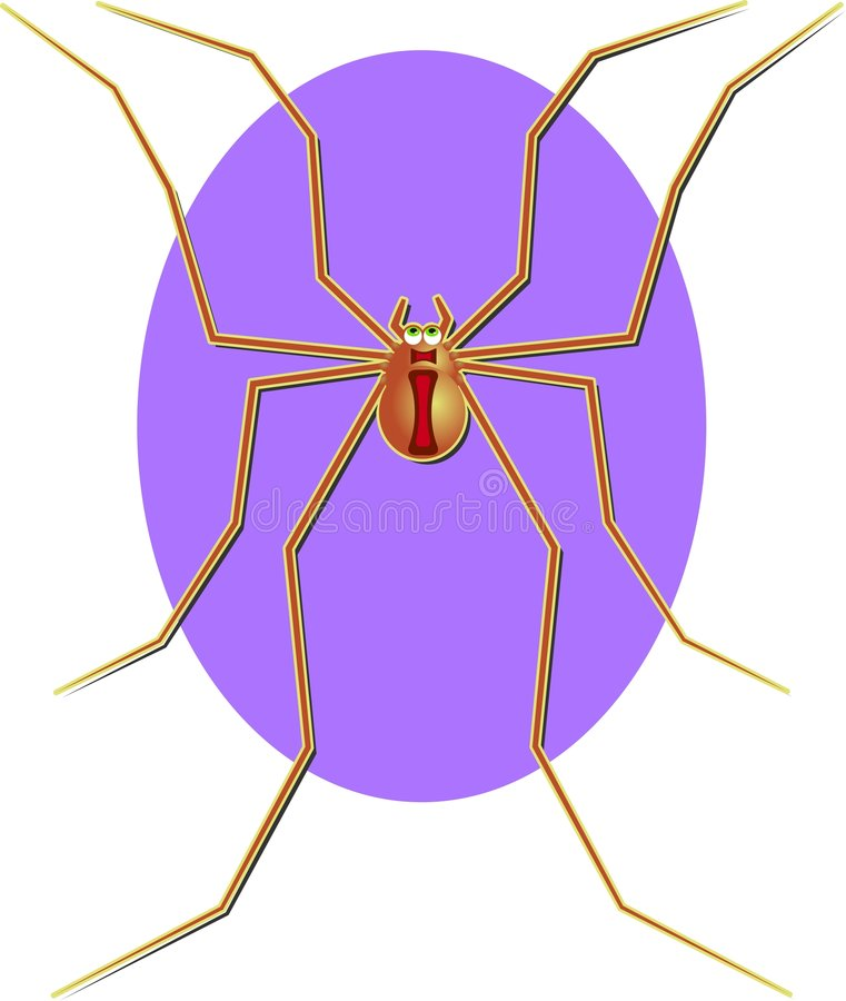 Download Harvestmen stock illustrationer. Bild av buffoon, diagram - 41425