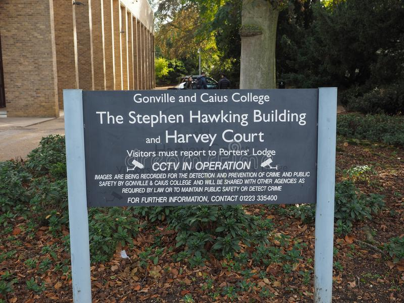 Harvey Court at the Gonville and Caius College near Stephen Hawking building stock images