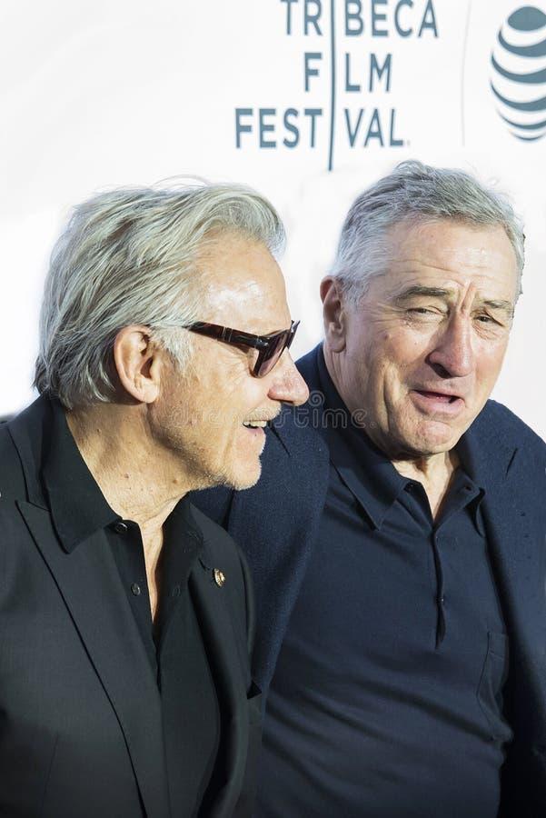 Harvey Keitel en Robert DeNiro bij Taxibestuurder Reunion royalty-vrije stock fotografie