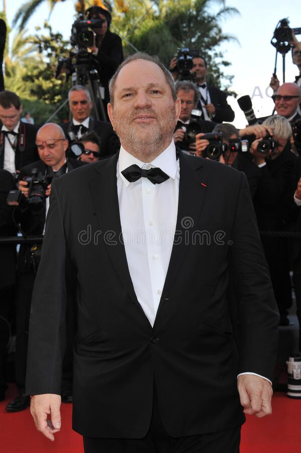 Harvey Weinstein. CANNES, FRANCE - May 16, 2012: Harvey Weinstein at the premiere of Moonrise Kingdom - the gala opening of the 65th Festival de Cannes..Picture royalty free stock photography