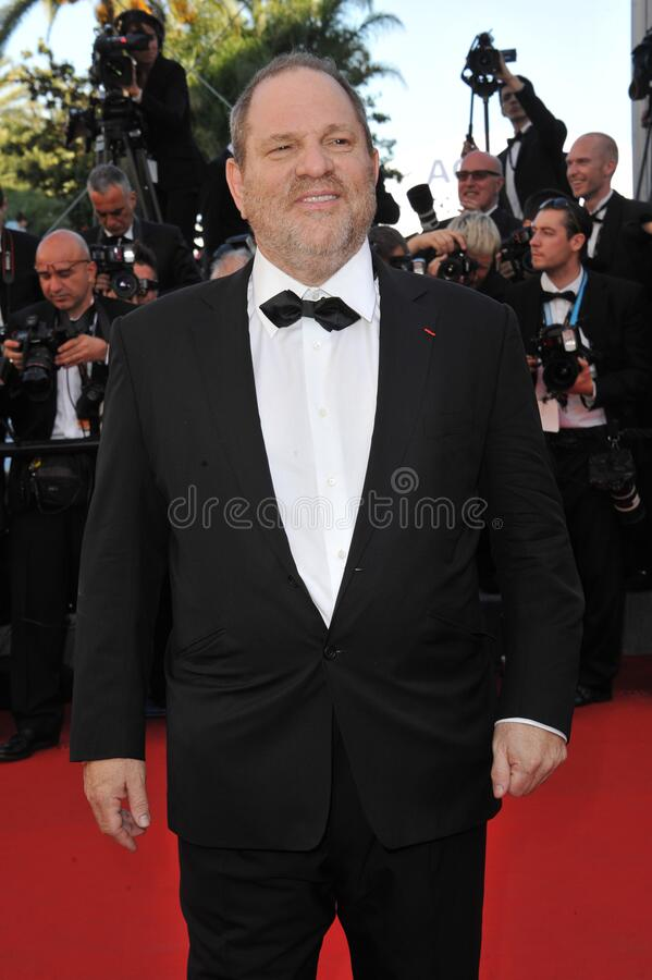 Harvey Weinstein. CANNES, FRANCE - May 16, 2012: Harvey Weinstein at the premiere of Moonrise Kingdom - the gala opening of the 65th Festival de Cannes..Picture royalty free stock photos