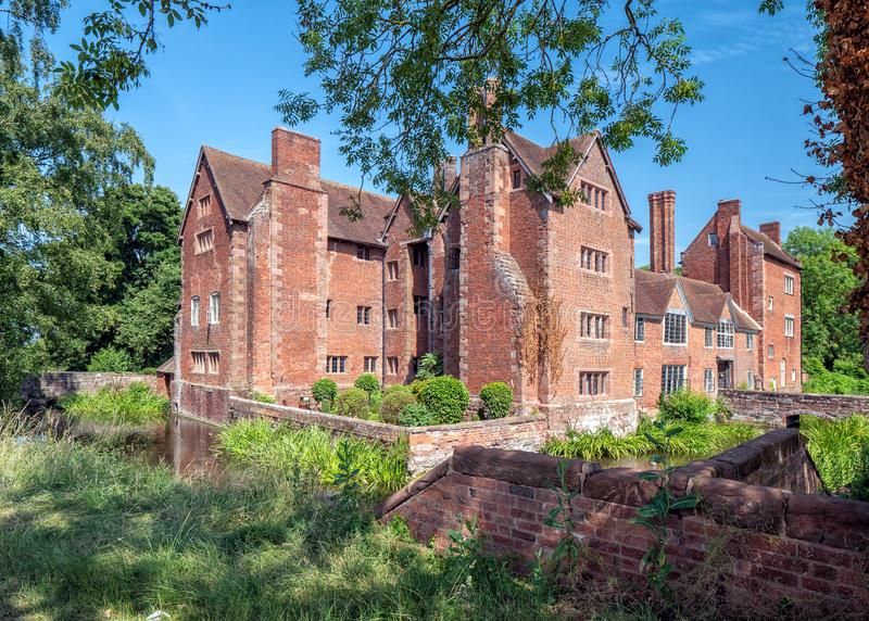 Harvington Hall, Worcestershire, England lizenzfreie stockbilder