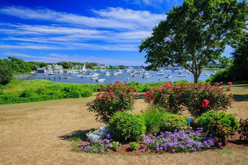 Harwich garden park in Massachusetts stock images