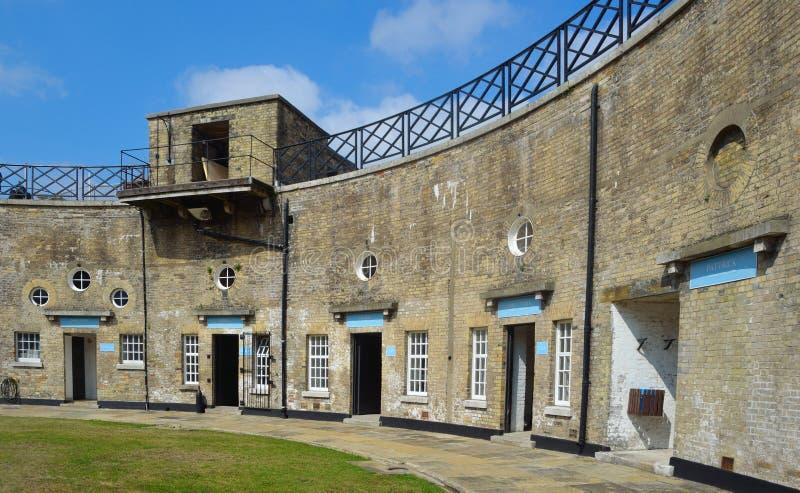 Harwich Redoubt kółkowy fort Essex Anglia fotografia stock