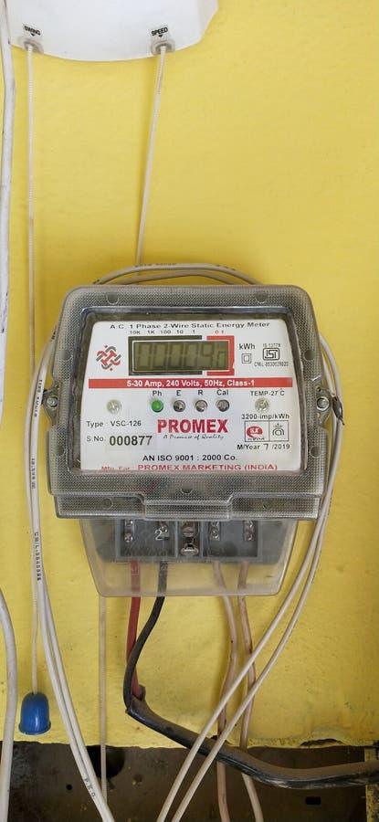 Haryana indiana charkhi dadri negozio di elettricità meeter fotografia stock