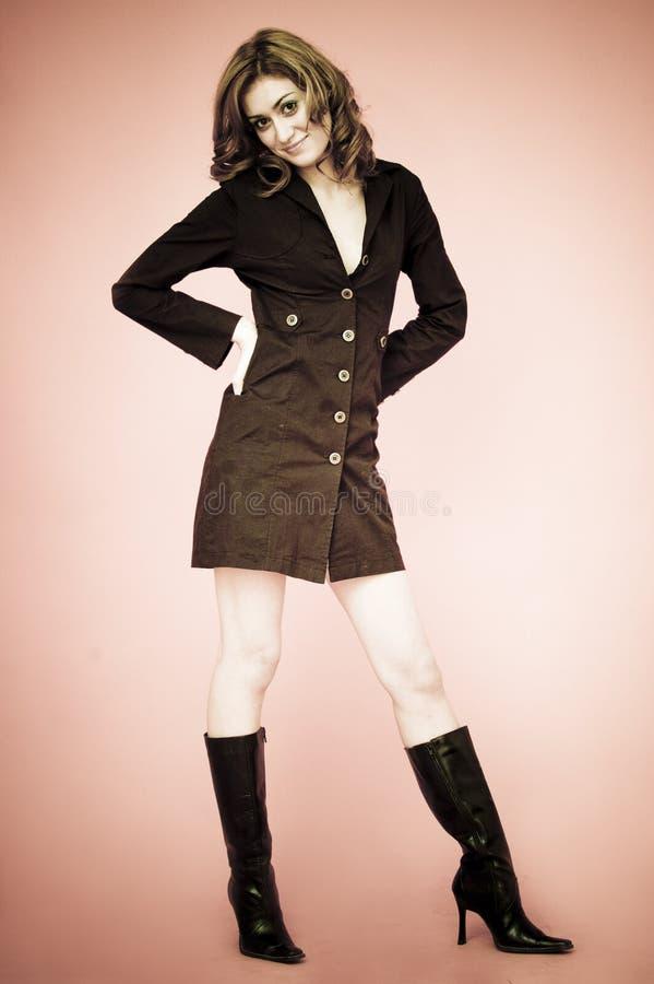 She has elegant style. stock photos