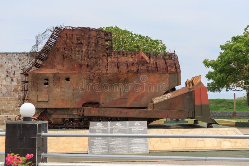 Hasalaka Gamini Memorial - passaggio dell'elefante, Jaffna - Sri Lanka fotografia stock libera da diritti