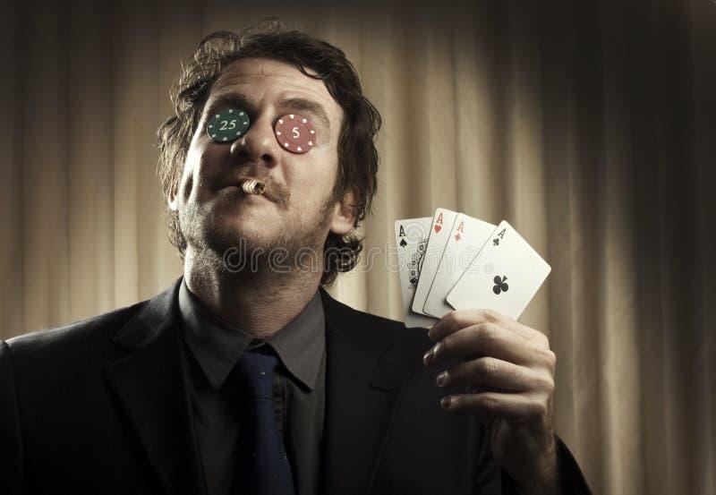 Hasardspelare Man royaltyfria bilder