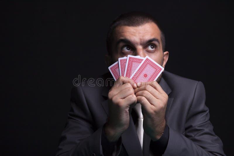 Hasardspelare Man royaltyfria foton