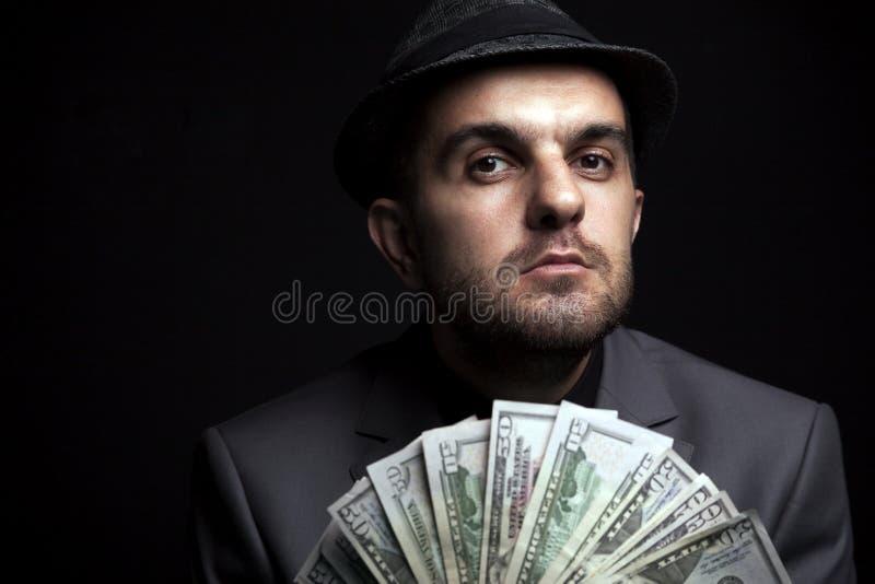 Hasardspelare Man arkivbild