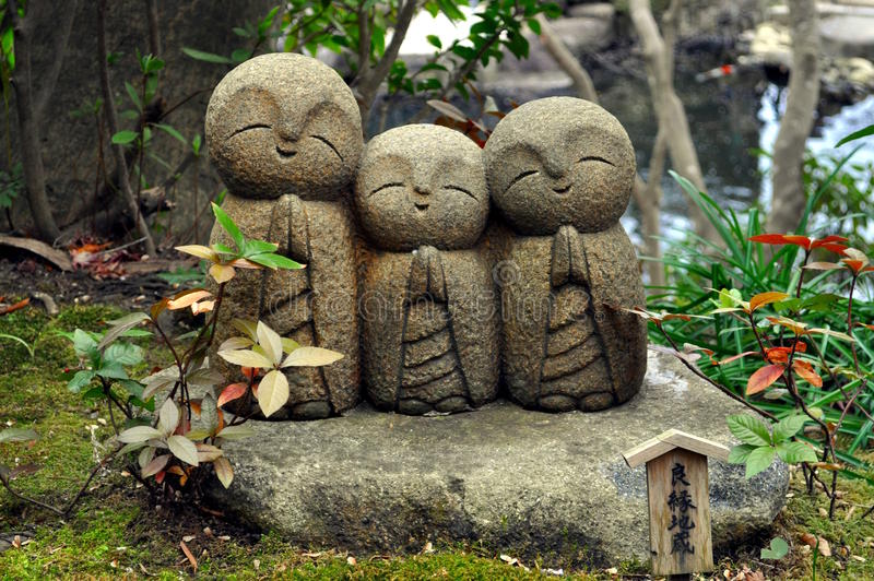 Hase-dera Temple Statues. An image of statues at the Hase-dera Temple in Kamakura Japan royalty free stock photo
