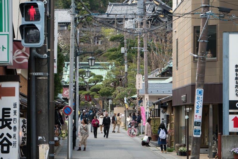 Hasederatempel, één van beroemde tempel in Kamakura, Japan stock foto