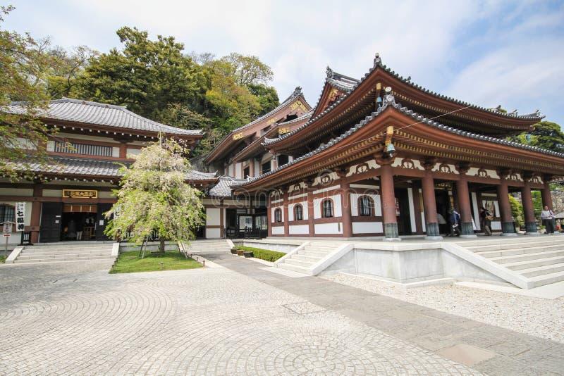 Hasederatempel, de beroemde tempel in de stad van Kamakura, Japan stock foto