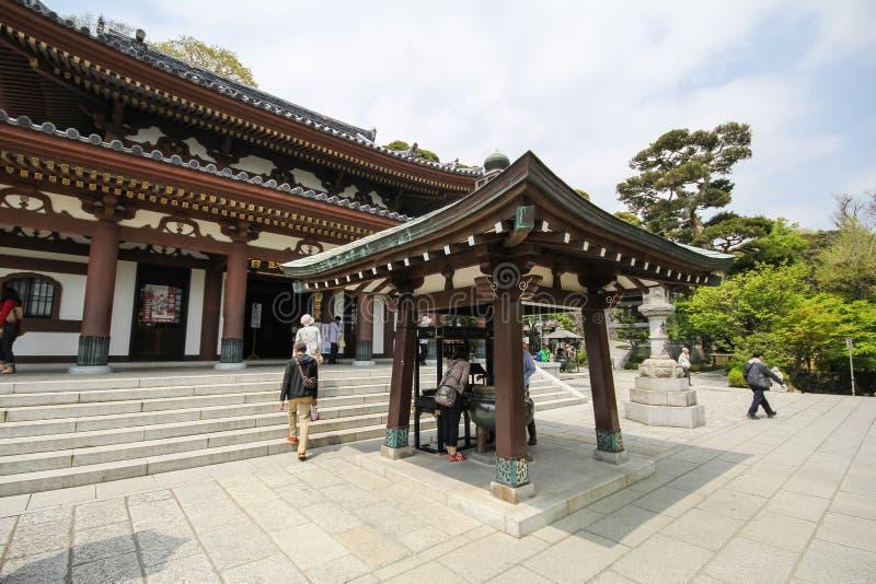 Hasederatempel, de beroemde tempel in de stad van Kamakura, Japan royalty-vrije stock foto