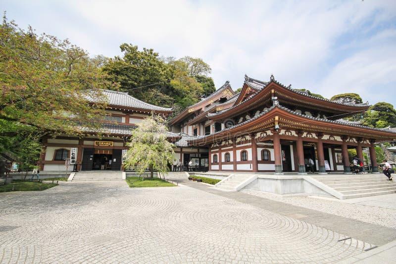 Hasederatempel, de beroemde tempel in de stad van Kamakura, Japan royalty-vrije stock afbeelding