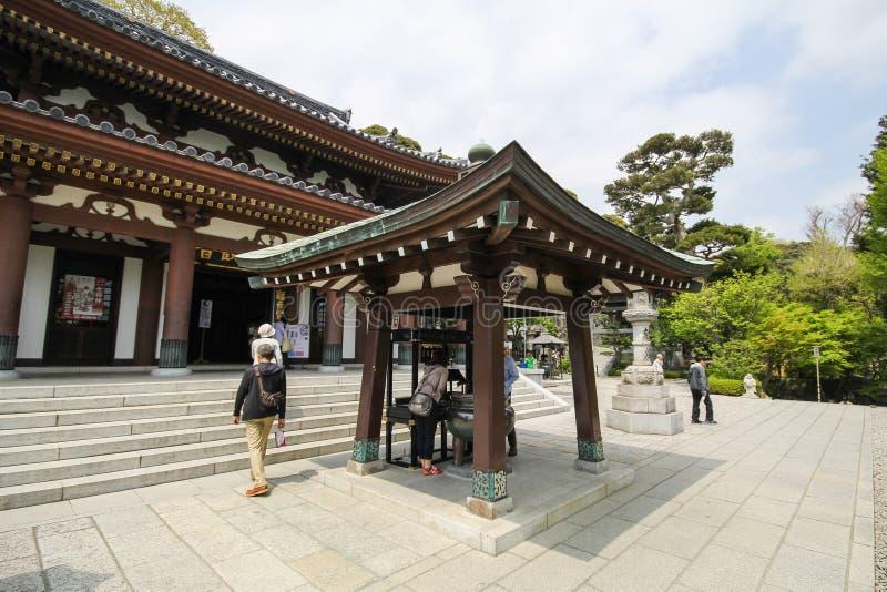 Hasederatempel, de beroemde tempel in de stad van Kamakura, Japan stock afbeeldingen