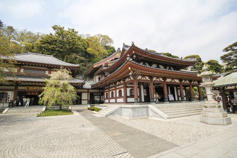Hasederatempel, de beroemde tempel in de stad van Kamakura, Japan royalty-vrije stock fotografie