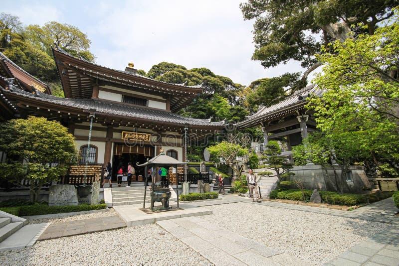 Hasederatempel, de beroemde tempel in de stad van Kamakura, Japan stock fotografie