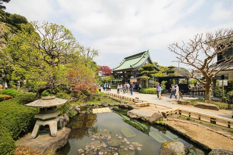 Hasederatempel, de beroemde tempel in de stad van Kamakura, Japan stock afbeelding