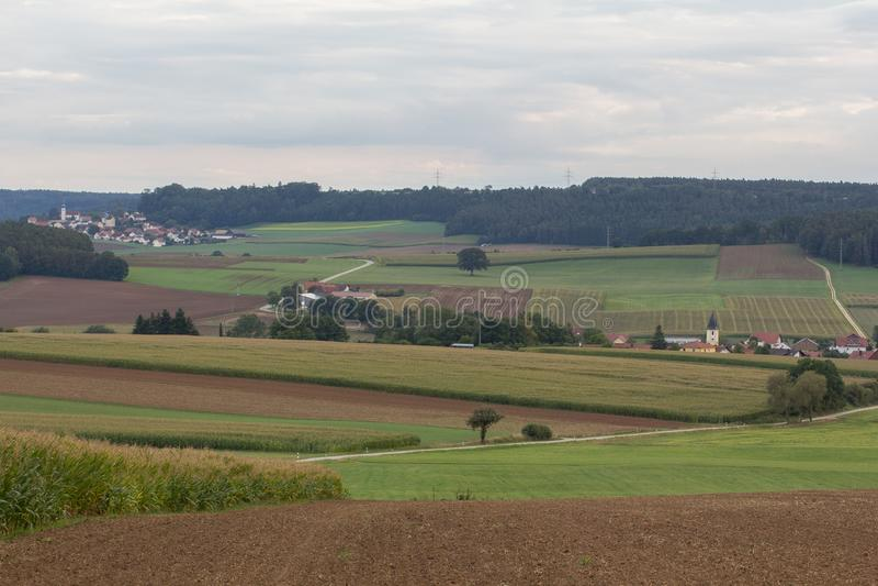 Haselbach e Neukirchen accanto a Schwandorf Schwandorf in Baviera fotografia stock
