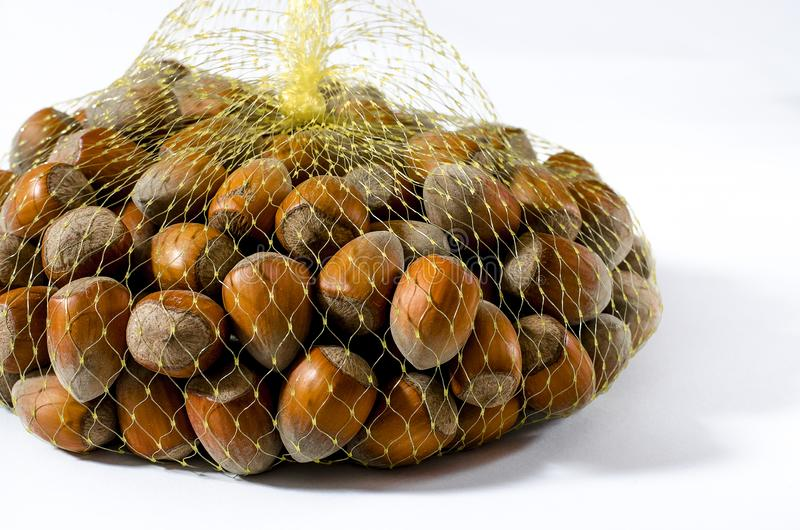 haselnüße Lebensmittelhintergrund, Fototapete Nussmakro lizenzfreies stockfoto