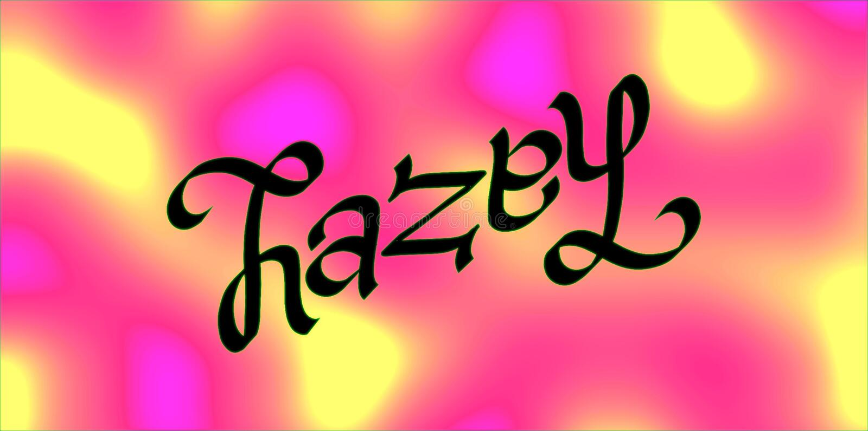 Haselnuss-ambigram stockfoto