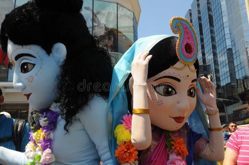 Hasen Krishna Rally. lizenzfreie stockbilder