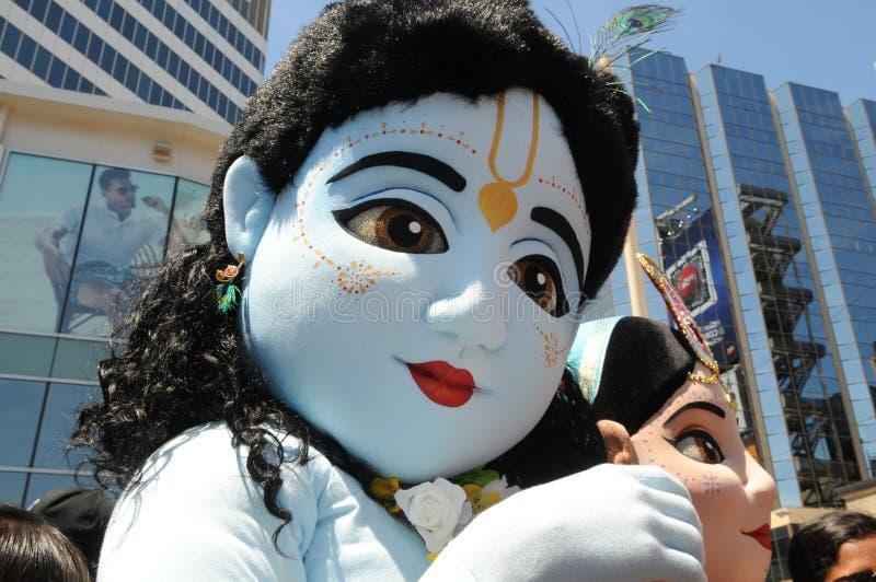 Hasen Krishna Rally. stockfoto