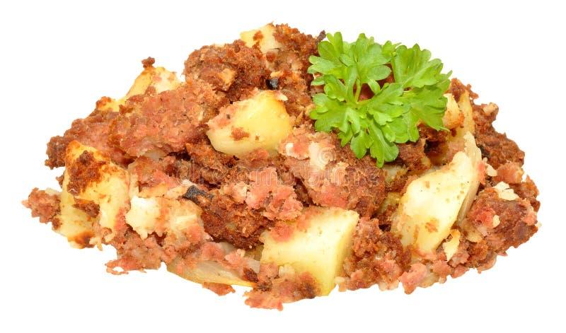 Hash παστού βοδινού γεύμα στοκ εικόνες