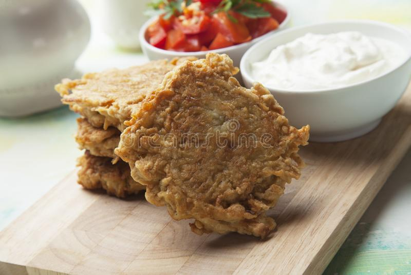 Hash brown, potato pancake stock photography