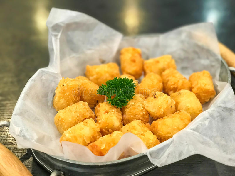hash browns in basket stock photography