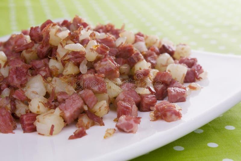 Hash di corned beef immagine stock libera da diritti