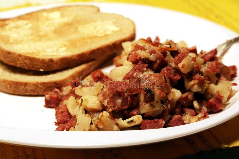 Hash di corned beef immagini stock libere da diritti