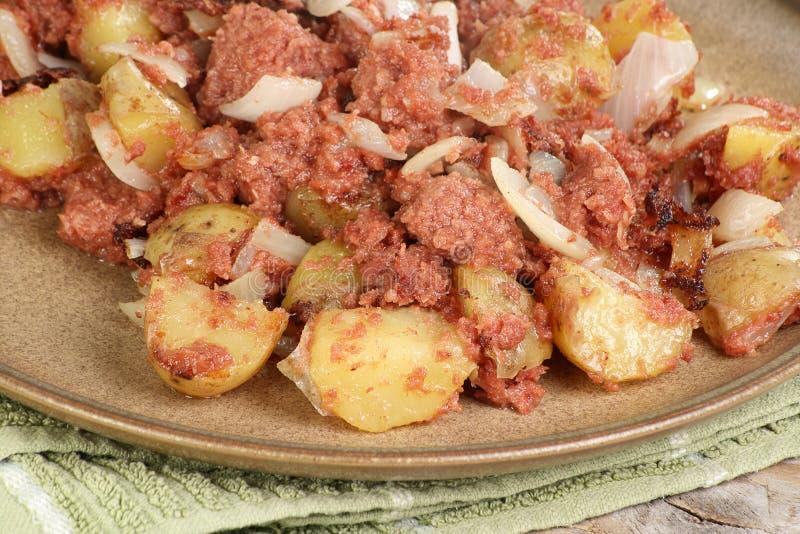 Hash di corned beef fotografie stock libere da diritti