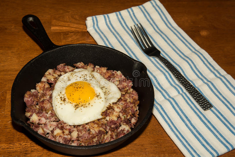 Hash di corned beef immagine stock